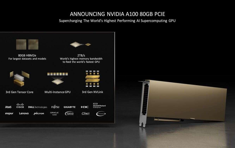 akcelerator NVIDIA A100 z 80 GB HBM2e PCIe, NVIDIA A100, Akcelerator NVIDIA A100, NVIDIA A100 PCIe