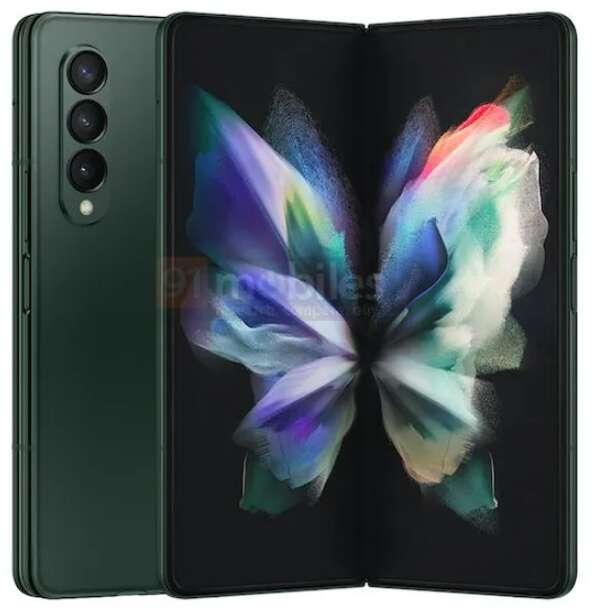 wygląd Galaxy Z Fold3, Samsung Galaxy Z Fold3, Galaxy Z Fold3, Z Fold3, specyfikacja Galaxy Z Fold3, rendery Galaxy Z Fold3