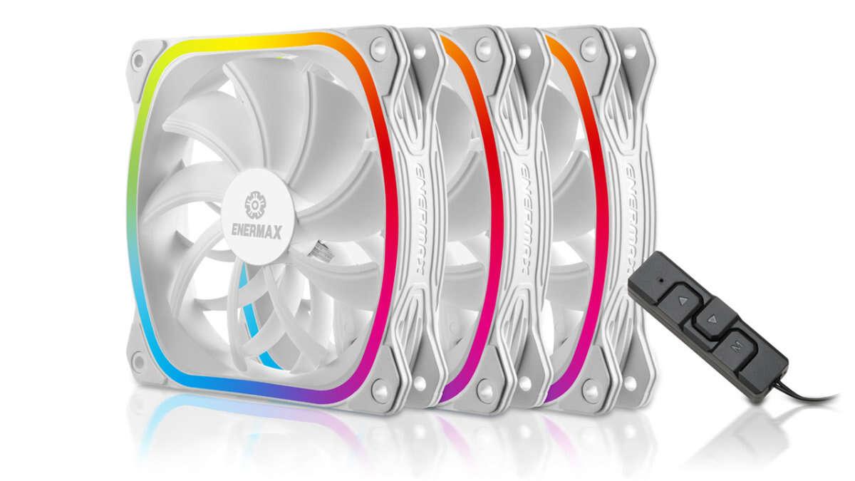Pakiet wentylatorów SquA RGB White od Enermax, Pakiet wentylatorów SquA RGB White, Enermax Squa RDB White