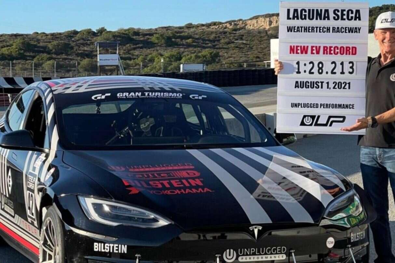 Ulepszony Model S Plaid, rekord na Laguna Seca, Model S Plaid, Tesla Model S Plaid,