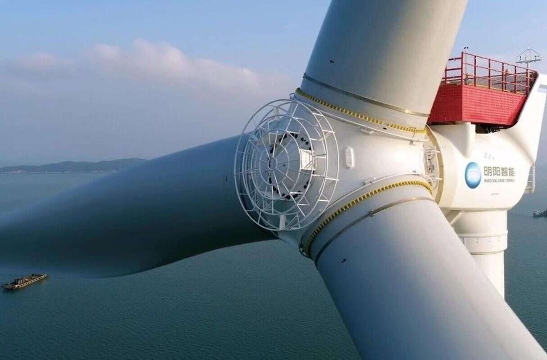 Powstaje chińska turbina wiatrowa,