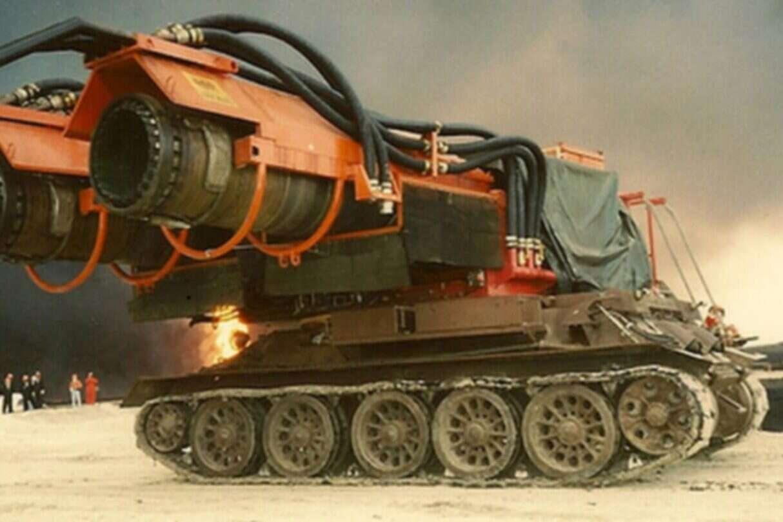 Rosyjski czołg z silnikami myśliwca, czołg z silnikami myśliwca,
