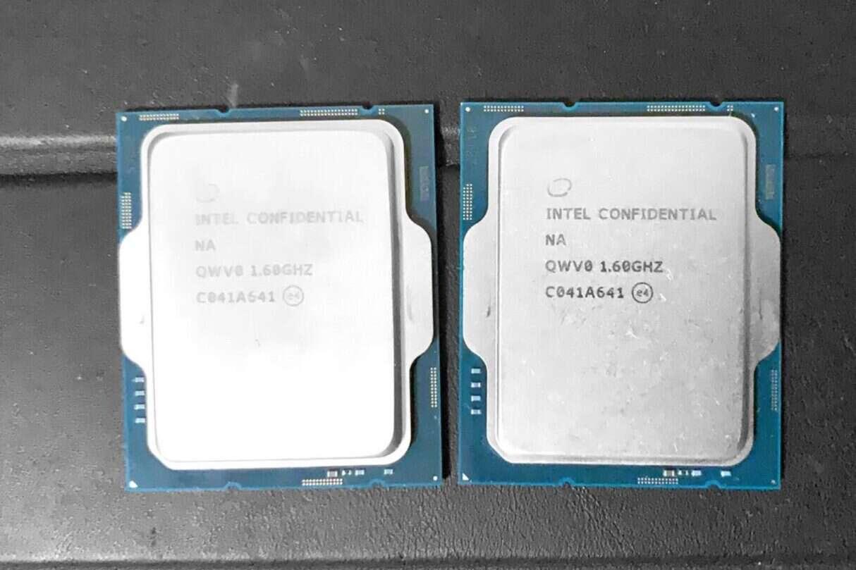 pierwsze oficjalne zdjęcie procesorów Alder Lake Intela, zdjęcie procesorów Alder Lake Intela